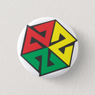 AVALON7 Inspiracon Rasta 1 Inch Round Button