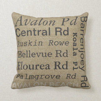 Avalon Beach Throw Pillow
