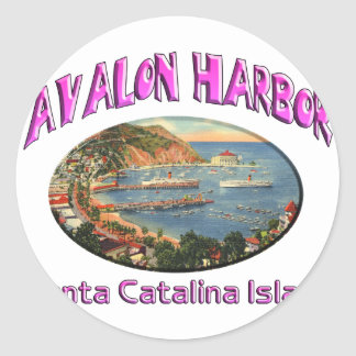 avalon classic round sticker