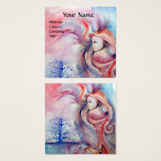 AVALON / Magic and Mystery,Pink Blue Fantasy Square Business Card