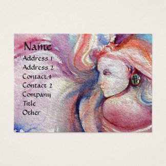 AVALON  Magic and Mystery Pink Blue Pearl Business Card