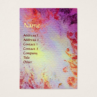 AVALON Magic & Mystery Pink Purple Floral Sparkles Business Card