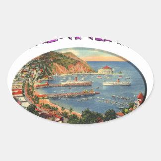 avalon oval sticker