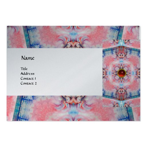 AVALON PSYCHEDELIC ,pink gem ruby platinum Business Card Template