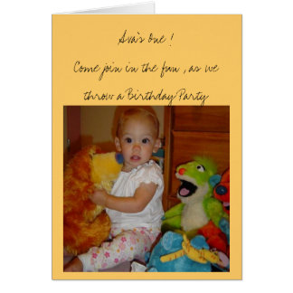 Ava's 1st Birthday Card