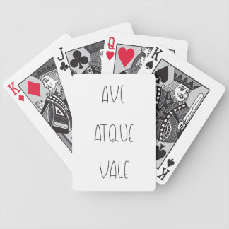 AVE ATQUE VALE BICYCLE PLAYING CARDS