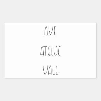 AVE ATQUE VALE STICKER