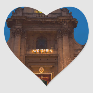 Ave Maria Church in Catania Heart Sticker