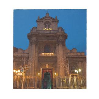 Ave Maria Church in Catania Notepads