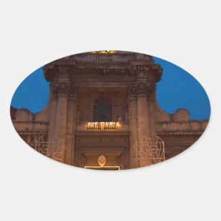 Ave Maria Church in Catania Oval Sticker