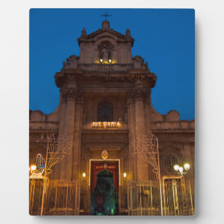 Ave Maria Church in Catania Plaque