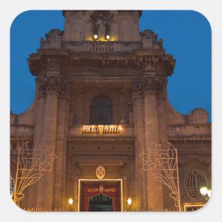 Ave Maria Church in Catania Square Sticker