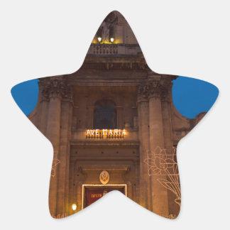 Ave Maria Church in Catania Star Sticker