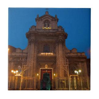Ave Maria Church in Catania Tile