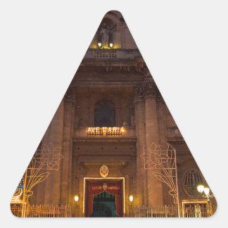 Ave Maria Church in Catania Triangle Sticker