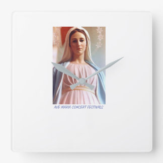 Ave Maria  Concert Festivals Square Wall Clock