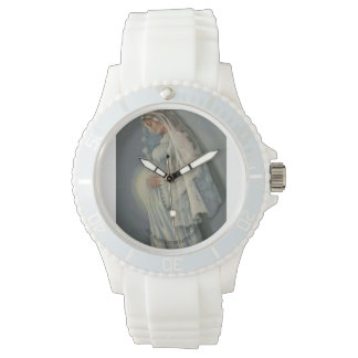 Ave Maria, Custom Sporty White Silicon Watch