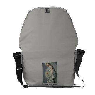 Ave Maria, Medium Messenger Bag Outside Print