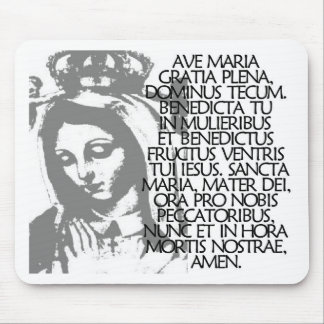 Ave Maria Mouse Pad