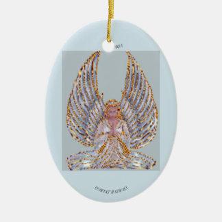 Ave Maria Oval Ornament