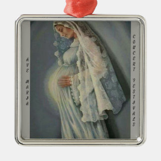 Ave Maria, Premium Square Ornament