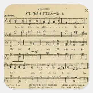 Ave Maris Stella Traditional Catholic Hymn Square Sticker