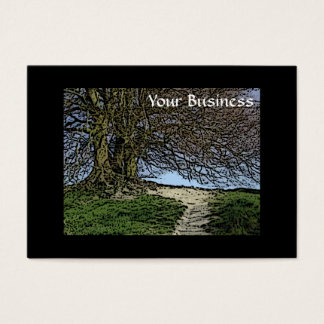 Avebury, Wiltshire, England. Tree and path. Business Card