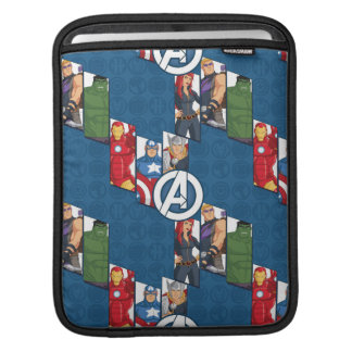 Avengers Assemble Characters Kid Pattern iPad Sleeves
