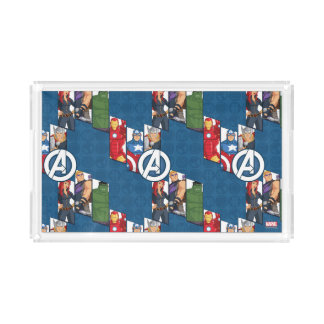 Avengers Assemble Characters Kid Pattern Serving Tray