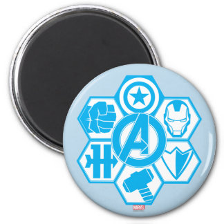 Avengers Assemble Icon Badge 2 Inch Round Magnet