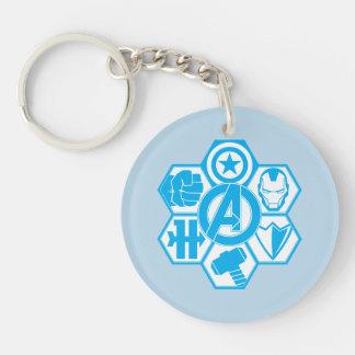 Avengers Assemble Icon Badge Double-Sided Round Acrylic Keychain