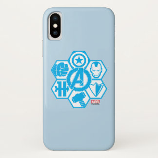 Avengers Assemble Icon Badge iPhone X Case
