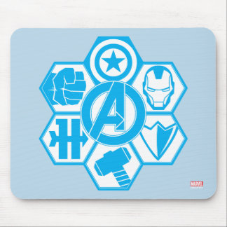 Avengers Assemble Icon Badge Mouse Pad