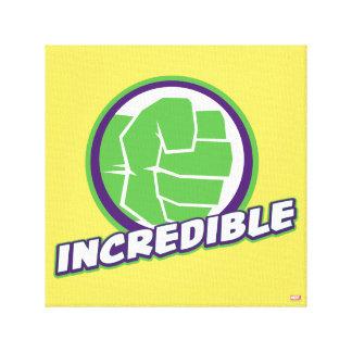 Avengers Assemble Incredible Hulk Logo Canvas Print