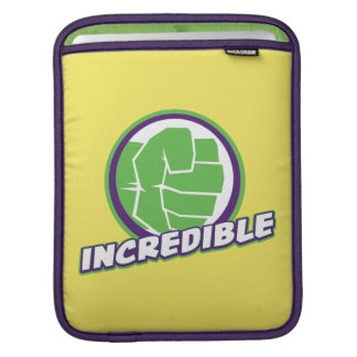 Avengers Assemble Incredible Hulk Logo Sleeve For iPads