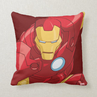 Avengers Assemble Iron Man Character Art Throw Pillow