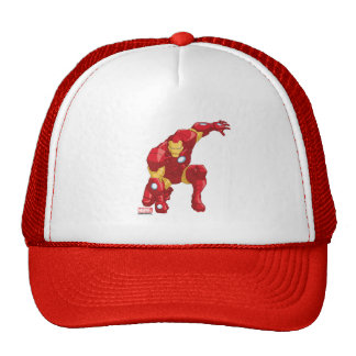 Avengers Assemble Iron Man Character Art Trucker Hat
