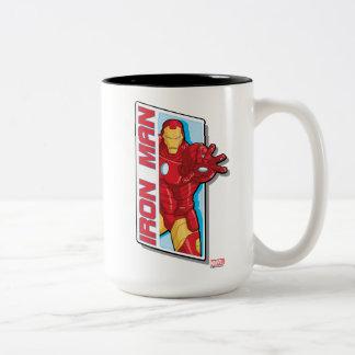 Avengers Assemble Iron Man Graphic Two-Tone Coffee Mug