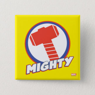 Avengers Assemble Mighty Thor Logo 2 Inch Square Button