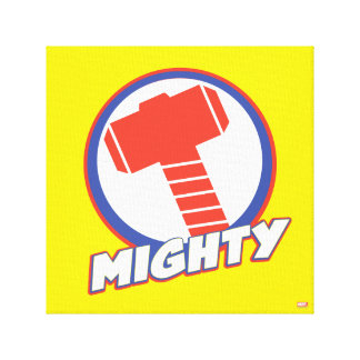 Avengers Assemble Mighty Thor Logo Canvas Print