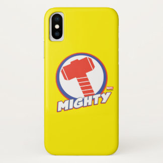 Avengers Assemble Mighty Thor Logo iPhone X Case