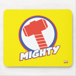 Avengers Assemble Mighty Thor Logo Mouse Pad