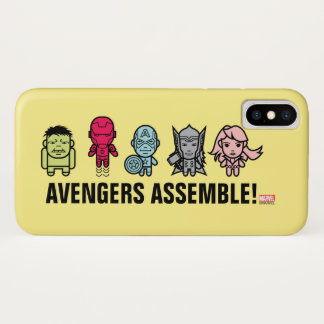 Avengers Assemble - Stylized Line Art iPhone X Case