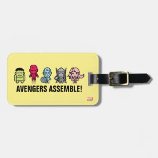 Avengers Assemble - Stylized Line Art Luggage Tag