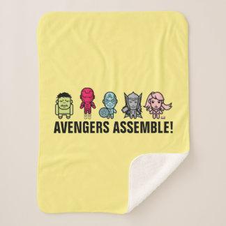 Avengers Assemble - Stylized Line Art Sherpa Blanket
