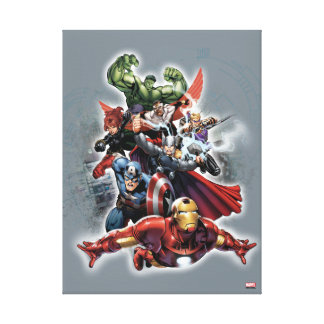 Avengers Attack Graphic Canvas Print