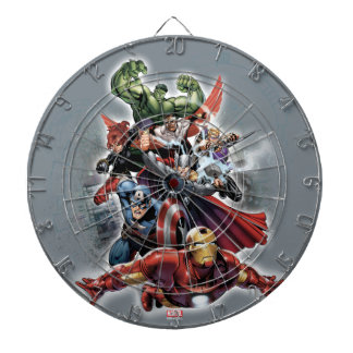 Avengers Attack Graphic Dart Boards