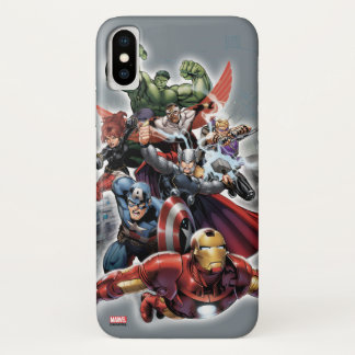 Avengers Attack Graphic iPhone X Case