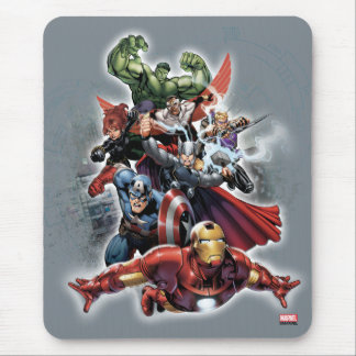 Avengers Attack Graphic Mouse Pad