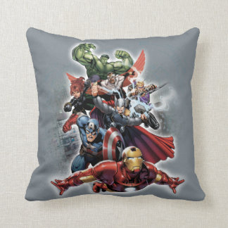 Avengers Attack Graphic Throw Pillow